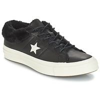 Shoes Women Low top trainers Converse ONE STAR LEATHER OX Black