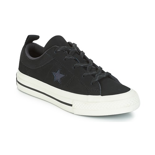 defe9c7d77b Shoes Children Low top trainers Converse ONE STAR NUBUCK OX Black   White