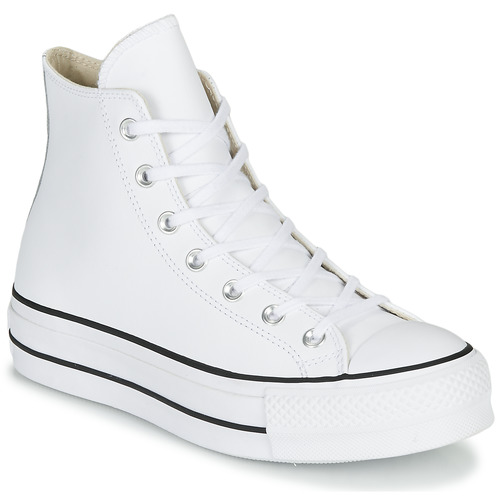 Shoes Women High top trainers Converse CHUCK TAYLOR ALL STAR LIFT CLEAN LEATHER HI White
