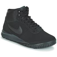 Shoes Men Mid boots Nike HOODLAND SUEDE Black