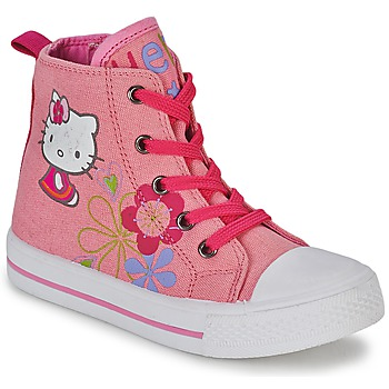 Shoes Girl High top trainers Hello Kitty LONS Pink