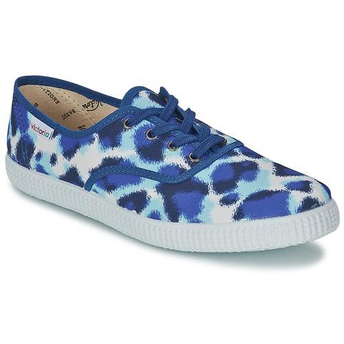 Shoes Women Low top trainers Victoria INGLESA ESTAMP HUELLA TIGRE Blue