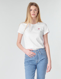material Women short-sleeved t-shirts Levi's PERFECT TEE White