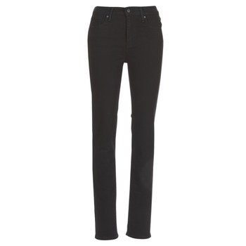 material Women straight jeans Levi's 724 HIGH RISE STRAIGHT Black
