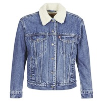 material Women Denim jackets Levi's EX-BF SHERPA TRUCKER To / Love