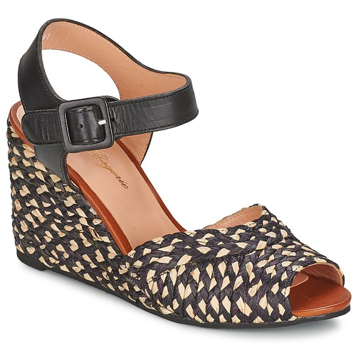 Cheap Robert Clergerie Dison Black Sandals for Women On Sale