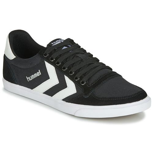 Shoes Men Low top trainers Hummel TEN STAR LOW CANVAS Black / White