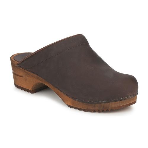 Shoes Women Clogs Sanita CHRISSY OPEN Brown