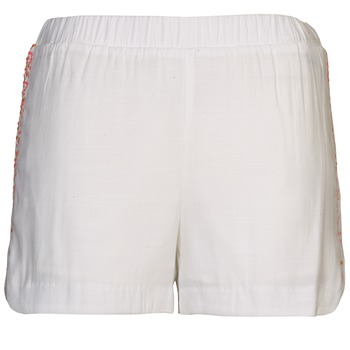 material Women Shorts / Bermudas Color Block ALFREDA White / CORAL