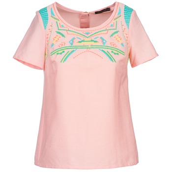 material Women Blouses Color Block ADRIANA Pink
