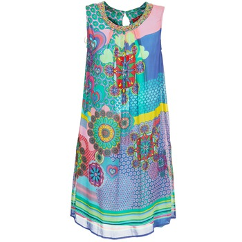 material Women Short Dresses Derhy BARDE Blue / Green / Multicoloured
