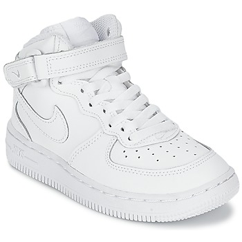 Shoes Boy High top trainers Nike AIR FORCE 1 MID White