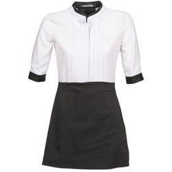 material Women Short Dresses La City COLUMBA Black / White