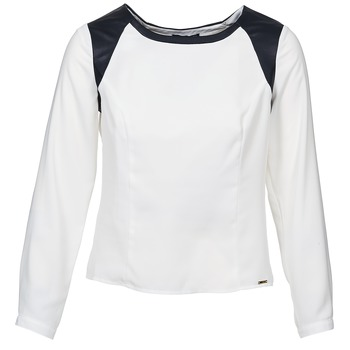 material Women Blouses La City LAETITIA Ecru / Black