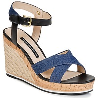 Shoes Women Sandals French Connection LATA Blue / Denim