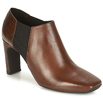 Shoes Women Low boots Geox D VIVYANNE HIGH Brown