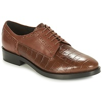 Shoes Women Derby shoes Geox DONNA BROGUE Brown