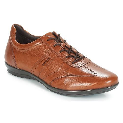 Shoes Men Derby shoes Geox UOMO SYMBOL Brown