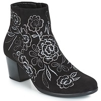 Shoes Women Ankle boots Gabor TINNYA Black / Grey