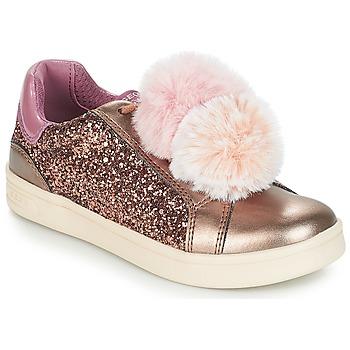 Shoes Girl Low top trainers Geox J DJROCK GIRL Beige / Pink