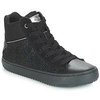 Shoes Girl High top trainers Geox J KALISPERA GIRL Black