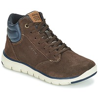 Shoes Boy High top trainers Geox J XUNDAY BOY Brown / Marine