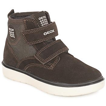 Shoes Boy High top trainers Geox J RIDDOCK BOY Brown / Marine