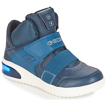 Shoes Boy High top trainers Geox J XLED BOY Marine