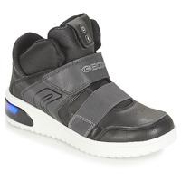 Shoes Boy High top trainers Geox J XLED BOY Black