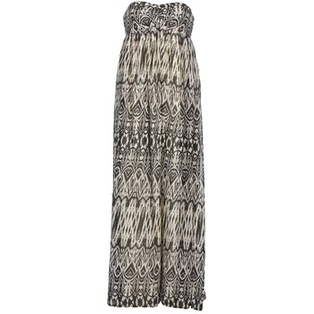 material Women Long Dresses Le Temps des Cerises GOTA Grey / White