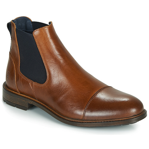 Shoes Men Mid boots Casual Attitude JANDY Cognac / Marine