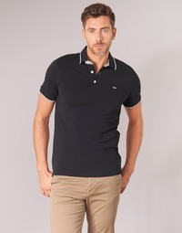 material Men short-sleeved polo shirts Jack & Jones JJEPAULOS Black