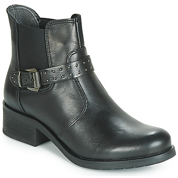 Shoes Women Mid boots André MAROON Black