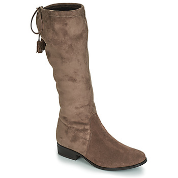 Shoes Women Boots André POLKA Taupe