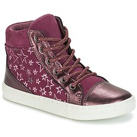 Shoes Girl High top trainers André EMILIE Violet