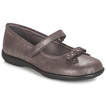Shoes Girl Ballerinas André LES SOURIS Grey