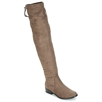 Shoes Women High boots André MARGOT Taupe