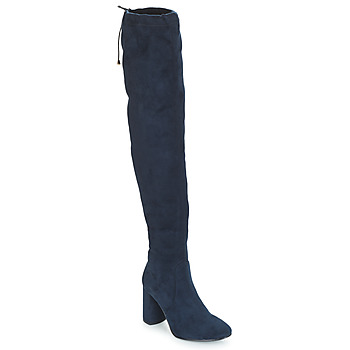 Shoes Women High boots André VELOURS Marine