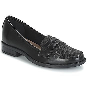Shoes Women Loafers André LONG ISLAND Black