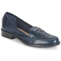 Shoes Women Loafers André LONG ISLAND Marine