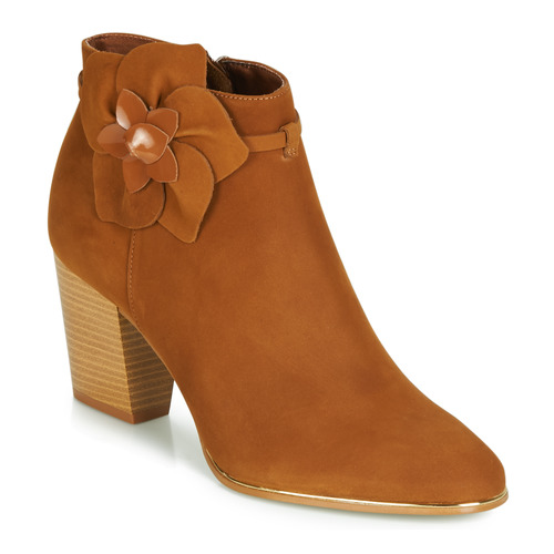 Shoes Women Mid boots André HEVA Brown