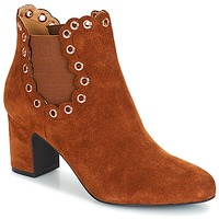 Shoes Women Ankle boots André ALESSIA Camel