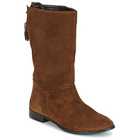 Shoes Women Boots André LOULOUTE Camel