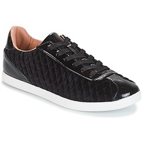 Shoes Women Low top trainers André VELVET Black