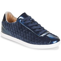 Shoes Women Low top trainers André VELVET Blue