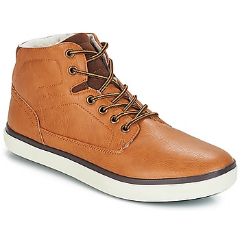 Shoes Men High top trainers André QUARTER Camel