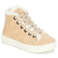 Shoes Girl High top trainers André TRICOT Beige