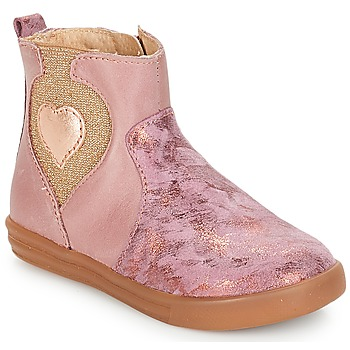 Shoes Girl Mid boots André MAUVE Pink