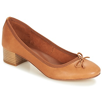 Shoes Women Ballerinas André POETESSE Brown