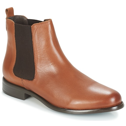 Shoes Women Ankle boots André CARAMEL Brown